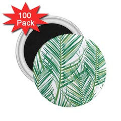 Jungle Fever Green Leaves 2 25  Magnets (100 Pack)  by Mariart