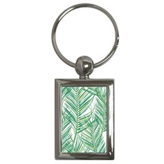 Jungle Fever Green Leaves Key Chains (rectangle)  by Mariart
