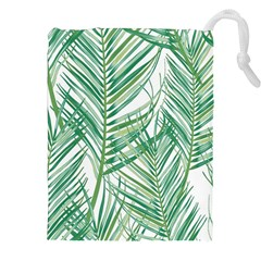 Jungle Fever Green Leaves Drawstring Pouches (xxl) by Mariart