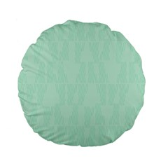 Line Blue Chevron Standard 15  Premium Flano Round Cushions by Mariart