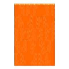 Line Orange Shower Curtain 48  X 72  (small)  by Mariart