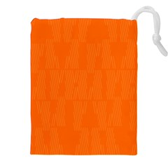 Line Orange Drawstring Pouches (xxl) by Mariart