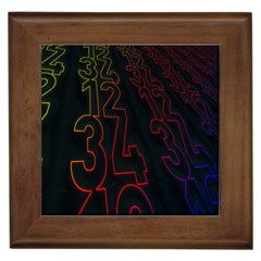 Neon Number Framed Tiles by Mariart