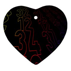 Neon Number Ornament (heart) by Mariart
