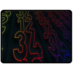 Neon Number Fleece Blanket (large)  by Mariart
