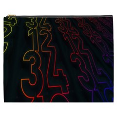 Neon Number Cosmetic Bag (xxxl)  by Mariart