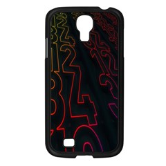 Neon Number Samsung Galaxy S4 I9500/ I9505 Case (black) by Mariart