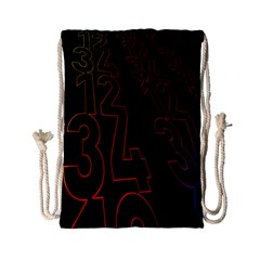 Neon Number Drawstring Bag (small) by Mariart