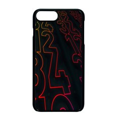Neon Number Apple Iphone 7 Plus Seamless Case (black) by Mariart