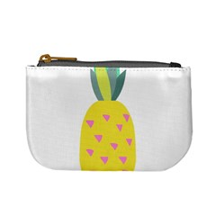 Pineapple Fruite Yellow Triangle Pink Mini Coin Purses by Mariart