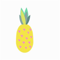 Pineapple Fruite Yellow Triangle Pink Small Garden Flag (two Sides) by Mariart