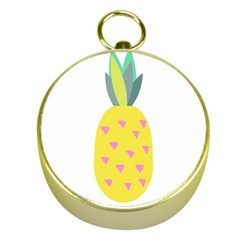 Pineapple Fruite Yellow Triangle Pink Gold Compasses by Mariart