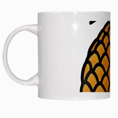 Pineapple Fruite Yellow Green Orange White Mugs by Mariart