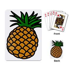 Pineapple Fruite Yellow Green Orange Playing Card by Mariart