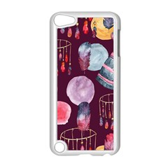 Boho Tribal Watercolor Pattern  Apple Ipod Touch 5 Case (white) by paulaoliveiradesign