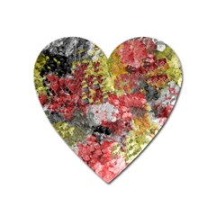 Garden Abstract Heart Magnet by theunrulyartist