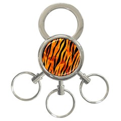 Skin3 Black Marble & Fire (r) 3 Ring Key Chains by trendistuff