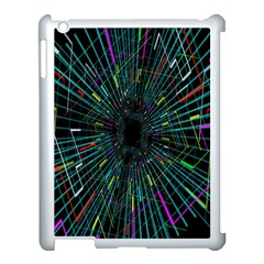 Colorful Geometric Electrical Line Block Grid Zooming Movement Apple Ipad 3/4 Case (white) by Mariart