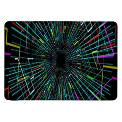 Colorful Geometric Electrical Line Block Grid Zooming Movement Samsung Galaxy Tab 8 9  P7300 Flip Case by Mariart