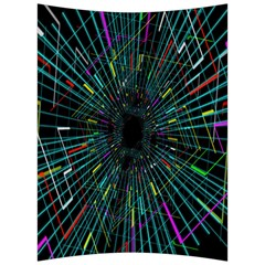 Colorful Geometric Electrical Line Block Grid Zooming Movement Back Support Cushion by Mariart