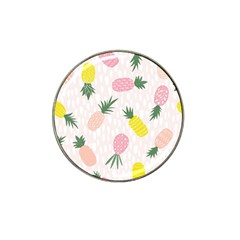 Pineapple Rainbow Fruite Pink Yellow Green Polka Dots Hat Clip Ball Marker by Mariart