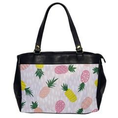 Pineapple Rainbow Fruite Pink Yellow Green Polka Dots Office Handbags by Mariart