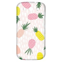 Pineapple Rainbow Fruite Pink Yellow Green Polka Dots Samsung Galaxy S3 S Iii Classic Hardshell Back Case by Mariart