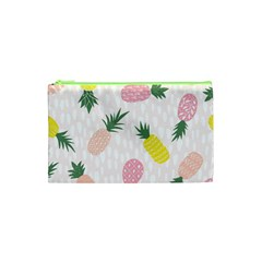 Pineapple Rainbow Fruite Pink Yellow Green Polka Dots Cosmetic Bag (xs) by Mariart