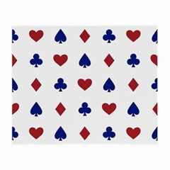 Playing Cards Hearts Diamonds Small Glasses Cloth (2 Side) by Mariart