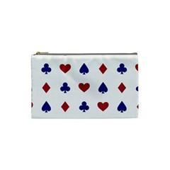 Playing Cards Hearts Diamonds Cosmetic Bag (small)  by Mariart