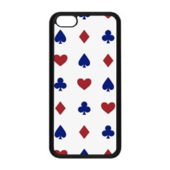 Playing Cards Hearts Diamonds Apple Iphone 5c Seamless Case (black) by Mariart