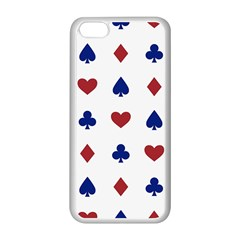 Playing Cards Hearts Diamonds Apple Iphone 5c Seamless Case (white) by Mariart