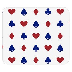 Playing Cards Hearts Diamonds Double Sided Flano Blanket (small)  by Mariart