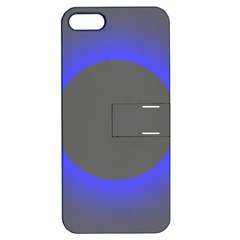 Pure Energy Black Blue Hole Space Galaxy Apple Iphone 5 Hardshell Case With Stand by Mariart