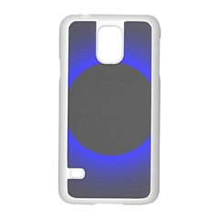 Pure Energy Black Blue Hole Space Galaxy Samsung Galaxy S5 Case (white) by Mariart