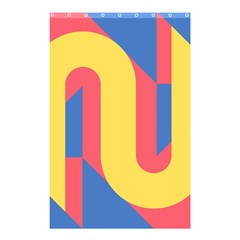 Rainbow Sign Yellow Red Blue Retro Shower Curtain 48  X 72  (small)  by Mariart