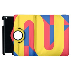 Rainbow Sign Yellow Red Blue Retro Apple Ipad 2 Flip 360 Case by Mariart