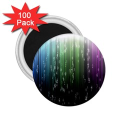 Numerical Animation Random Stripes Rainbow Space 2 25  Magnets (100 Pack)  by Mariart