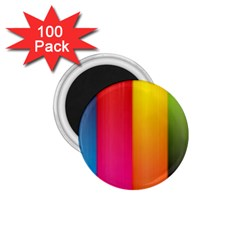 Rainbow Stripes Vertical Lines Colorful Blue Pink Orange Green 1 75  Magnets (100 Pack)  by Mariart