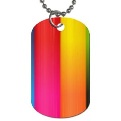Rainbow Stripes Vertical Lines Colorful Blue Pink Orange Green Dog Tag (two Sides) by Mariart