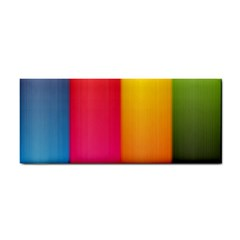 Rainbow Stripes Vertical Lines Colorful Blue Pink Orange Green Cosmetic Storage Cases by Mariart