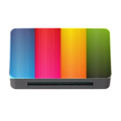 Rainbow Stripes Vertical Lines Colorful Blue Pink Orange Green Memory Card Reader With Cf by Mariart