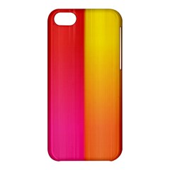 Rainbow Stripes Vertical Lines Colorful Blue Pink Orange Green Apple Iphone 5c Hardshell Case by Mariart