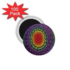 Rainbow Mandala Circle 1 75  Magnets (100 Pack)  by Mariart