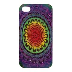 Rainbow Mandala Circle Apple Iphone 4/4s Hardshell Case by Mariart