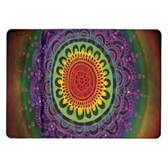 Rainbow Mandala Circle Samsung Galaxy Tab 10 1  P7500 Flip Case by Mariart