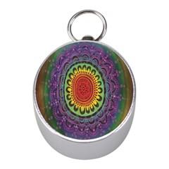 Rainbow Mandala Circle Mini Silver Compasses by Mariart