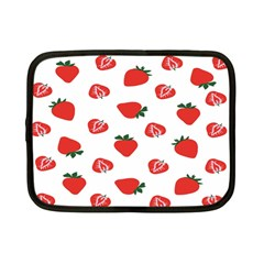 Red Fruit Strawberry Pattern Netbook Case (small)  by Mariart