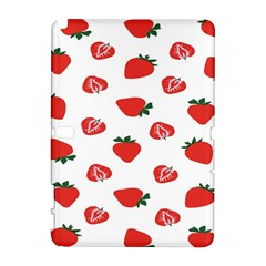 Red Fruit Strawberry Pattern Galaxy Note 1 by Mariart
