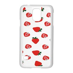 Red Fruit Strawberry Pattern Samsung Galaxy S5 Case (white) by Mariart